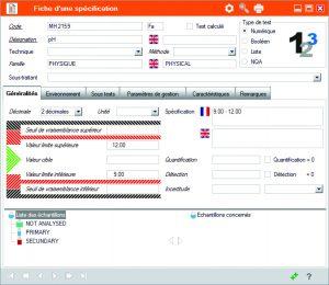 logiciel de gestion des résultats d'analyse, dossier d'analyse, études de stabilité